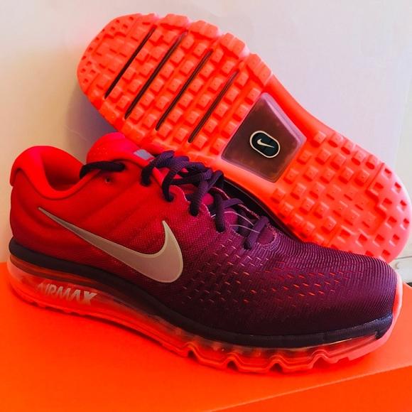 New Nike Air Max Men Sneakers Maroonred